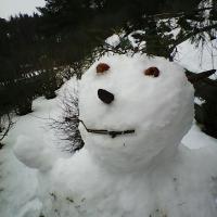 ...noch schnell einen Schneemann gebaut!