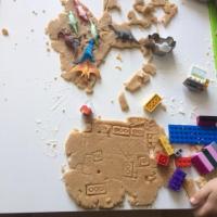 Dinosaurier-Kekse im Mai